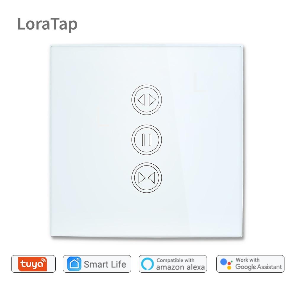 Tuya Vida Inteligente WiFi Interruptor para Motorizado Elétrico Cortina Cego Cortina Do Obturador Do Rolo, Inicial do Google, amazon Alexa Controle de Voz