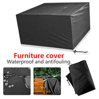 Black 210D Oxford Cloth Garden Patio Table Chair Cover Waterproof Outdoor Furniture Dustproof Cover Furniture Covers