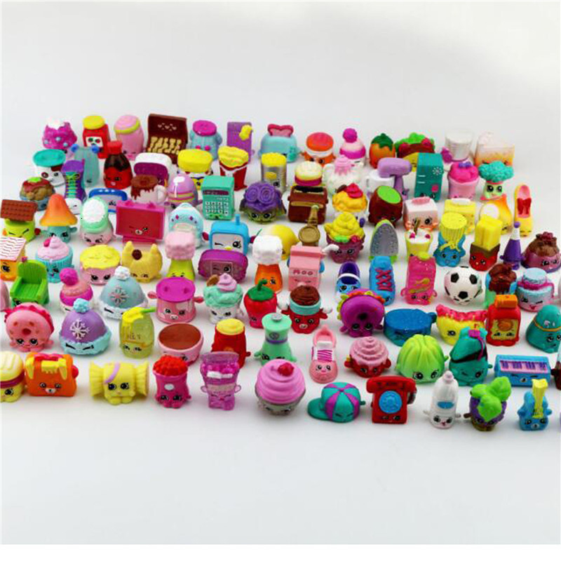 Hot Kids Cartoon Small Size Shopkines Kids Play Vinyl Doll Toy Environmental Protection Material Toy