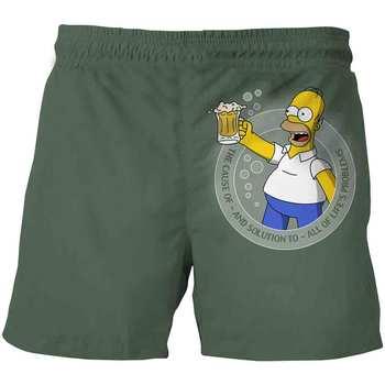 Pantalones cortos de poliéster de 4 a 14 años con estampado 3D de The Simpsons Clothe Boy