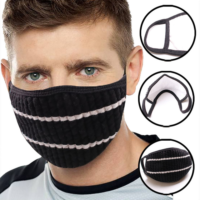 Anti-dust Black Mouth Mask  Unisex Cotton Face  Mask Anime Mask For Cycling Camp Mouth-muffle bacteria proof Flu #30