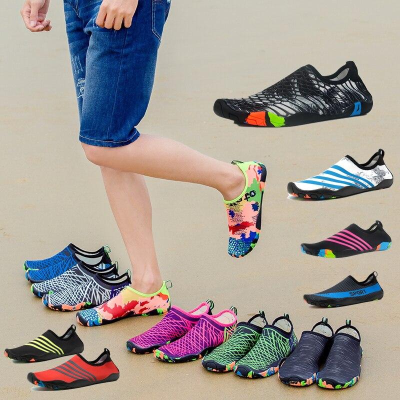 2019 New Summer Water Shoes Men Beach Sandals Upstream Aqua Shoes Man Quick Dry River Sea Slippers Diving Swimming Socks