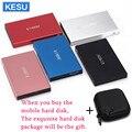Оригинальный металлический тонкий портативный внешний жесткий диск KESU 2,5 дюйма, USB 3,0, 640 Гб, 1 ТБ, 2 ТБ, жесткий диск, внешний жесткий диск HD, 6 цв...