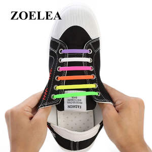 Silicone Shoelaces Elastic-Shoe Rubber Women Zapatillas 13-Colors Special for Lacing