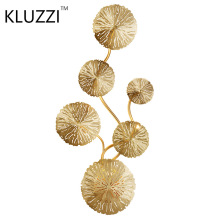KLUZZI LED Wall Lamp Gold Flower Wall light lamparas led pared Bathroom Wall Sconces Decor Home lighting Sconce  wall lights