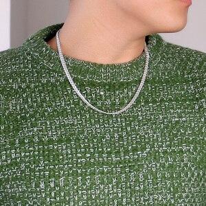Image 3 - 100% ของแข็ง925เงินสเตอร์ลิงTwisted Singapore Chain 22นิ้ว6มม.สำหรับสตรีและผู้ชายใหม่ขายส่งDIYยาวสร้อยคอผู้ชายเครื่องประดับ