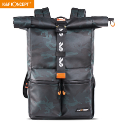 K&F Concept Camera Backpack Tripod Bag fit 15in Laptop Bag for SLR/DSLR Camera Lens and Accessories with Rain Cover