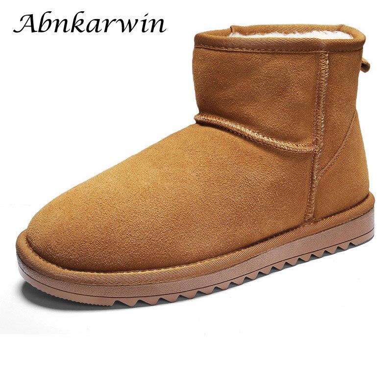 Winter Men Waterproof Snow Boots Plush Fur Warm Ankle Men's Shoes Snowboots Kar Botu Buty Zimowe Snowshoes High Top Plus Size 47