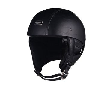 Image 3 - 1 adet 57 62cm ABS plastik motosiklet Helm motokros Capacete yarım kask Retro mat parlak siyah