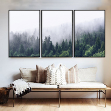 Yuke Art Nordic Forest Landscape Wall Canvas Poster Print Painting Decorative For Living Room Home Decor