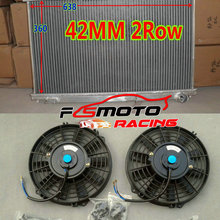 Aluminum Radiator 2005 SE17 Mazda 2003 for Rx-8/Rx8/Se17 Manual MT 2--Fans 2004 2009