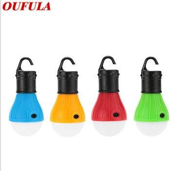цена на OUFULA  Outdoor 3 led Portable Bulb Waterproof Ball Tent Light Camping Hook Light Mini Emergency Camping Signal Light