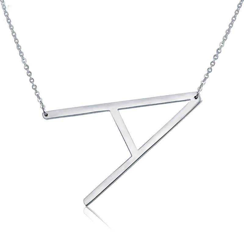 Elegante 26 Brief Kettingen Hangers Alfabet 3 Kleur Rvs Choker Initial Ketting Vrouwen Meisje Sieraden Ketting