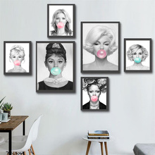 Marilyn Monroe Audrey Hepburn Rihanna Wall Art Canvas Painting Nordic Posters And Prints Pictures For Living Room Decor