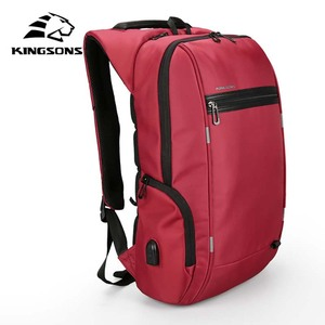 Image 2 - Kingsons Men Women Backpack Waterproof 13 13.3/15 15.6 /17 17.3 inch Laptop Backpack Male Female School Bags for Boys Girls