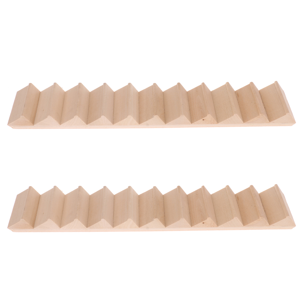2Pcs 1:12 Dolls House Miniatures Wood Staircase Stair 11-Steps House Building Dollhouse Accessories