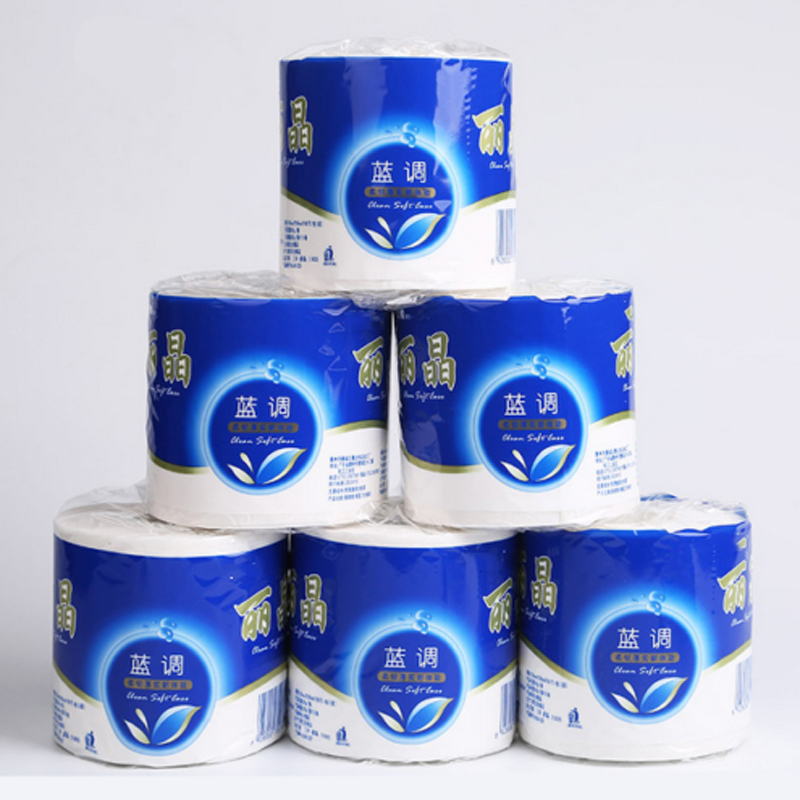 10 Rolls 3Ply Toilet Tissue Quilted Paper Home Washroom Roll Paper For Household Bathroom  Kitchen Cleaning Sanitary Paper