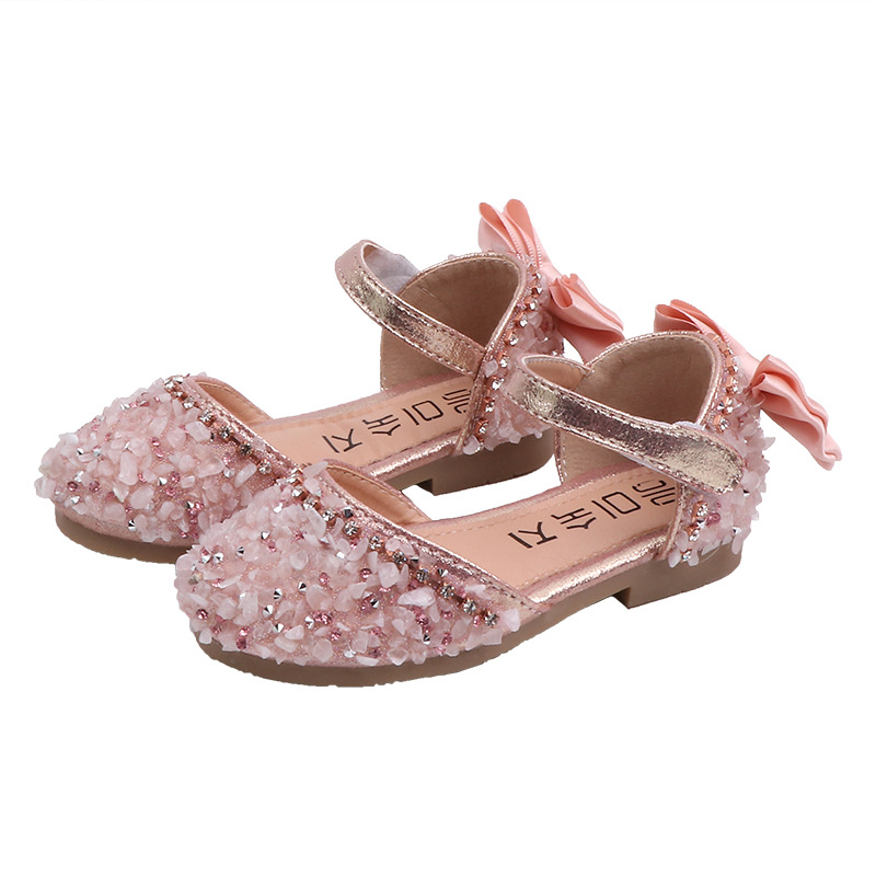 Skoex  Sandals For Girls Summer Children Kids Baby Bowknot Crystal Fashion Princess Sandals 2020new Wedding Party Dress Shoes