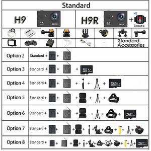 "Image 3 - ต้นฉบับEKEN H9/H9Rกล้องUltra HD 4K / 30fps WiFi 2.0 ""170Dใต้น้ำกันน้ำหมวกกันน็อกVedio Go Sport Proมา"