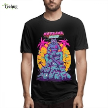 Anime Men Hotline Miami T Shirt New Arrival 3D Print Quality Cotton For Man Tee shirt Round Neck 100% Tees