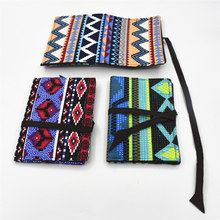 Portable Cigarette Tobacco Bag With Cigarette Holder Metal pipe Rolling Paper Storage Pouch Tobacco Pouch Paper Holder(China)