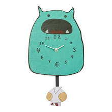 Cartoon Wall Clock Kids Room Decoration Lovely monster Swing Art Home Decor Beautiful Gift for Children