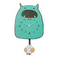 Cartoon Wall Clock Kids Room Decoration Lovely monster Swing Wall Clock Wall Art Home Decor Beautiful Gift for Children