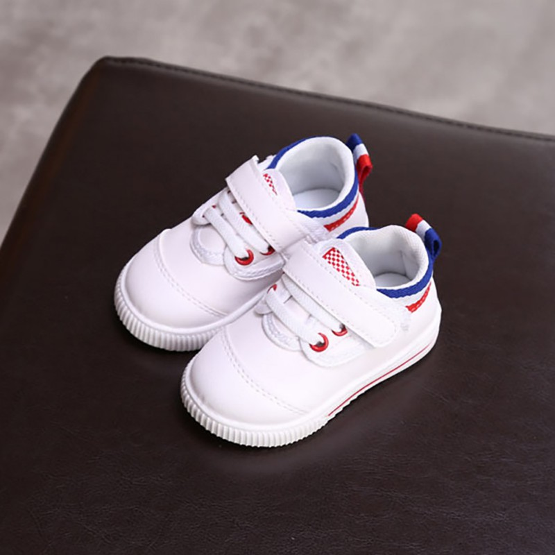 2019 Baby Kids Elastic Band Fashion Shoes Boys Girls Soft Soled Casual Breathable Anti-Slip Sneakers Infant First Walker