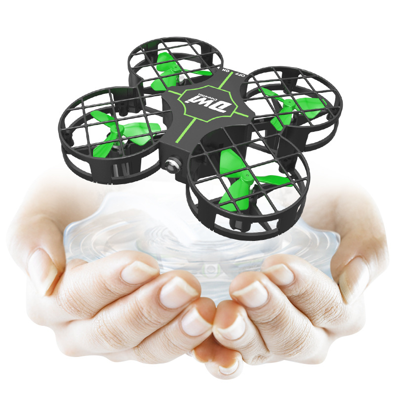 DWI D2 Indoor Remote Control Toy Aircraft Mini Grid Protection Children Remote Control Aircraft Unmanned Aerial Vehicle Toy