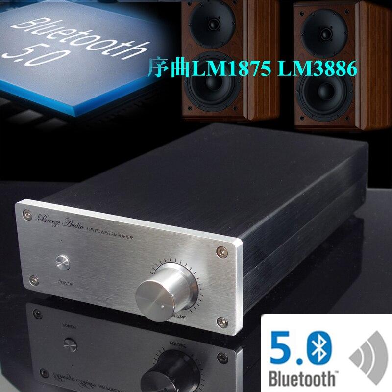 KYYSLB 220V 68W * 2 CSRQCC3008 Bluetooth 5.0 LM1875 LM3886 Amplificateur 2 Canaux HIFI 30W * 2 LM1875 LM3886 Amplificateur De Puissance 4-8 Euro