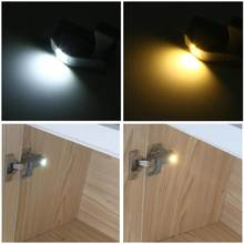 1pcs LED Cabinet Light Motion Sensor Cupboard Inner Hinge Lamp Universal Wardrobe Closet Night Light for Home Kitchen Bedroom(China)