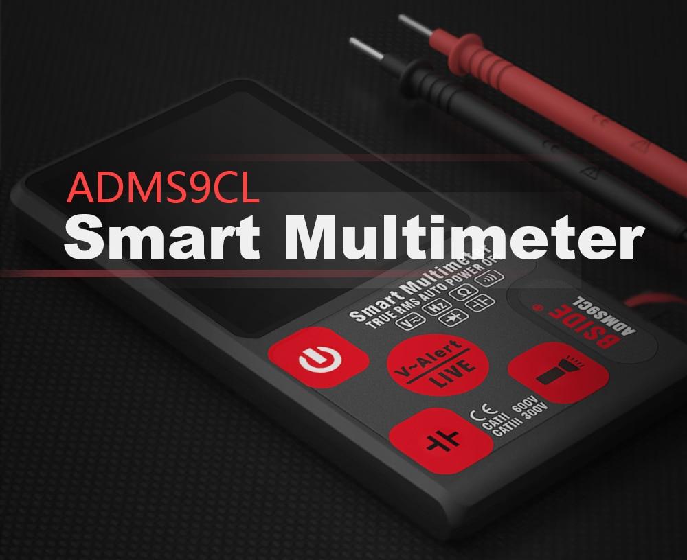 "Hcaa20b1392c247faa6ab5f7f63d3272cv Ultra-Portable Digital Multimeter BSIDE ADMS7 S9CL Large 3.5"" LCD 3-Line Display Voltmeter DMM AC DC Voltage NCV Ohm Hz Tester"