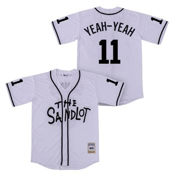 Jersey retro The Sandlot béisbol Jerseys 11 Sí-sí Color blanco alta calidad venta al por mayor ropa deportiva envío gratis