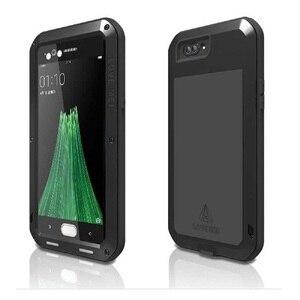 Image 1 - Aluminum Metal Case for OPPO R11 LOVE MEI Armor Outdoor Hard Shell Phone Case for OPPO R11s Tempered Glass OPPO R11s Plus Cover