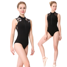 Ballet Dance Leotards Women 2020 New Style Printing Zipper Gymnastics Dancing Costume Adult High Collar Ballet Leotard