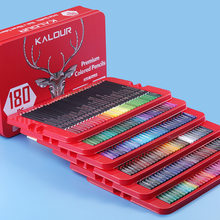 KALOUR 180/120/72 Colored Pencil Set Soft Oil Watercolor Coloring Pencils for Drawing Non-toxic Wood Coloring Pencils Tin Set