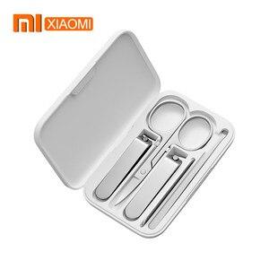 Image 1 - Xiaomi mijia 5 pçs/set cortador de unhas, em aço inoxidável, unhas dedo, cortador unha, tesoura, kit de aliciamento, ferramentas de manicure pedicure