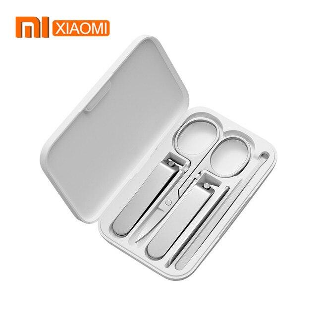 Xiaomi mijia 5 pçs/set cortador de unhas, em aço inoxidável, unhas dedo, cortador unha, tesoura, kit de aliciamento, ferramentas de manicure pedicure