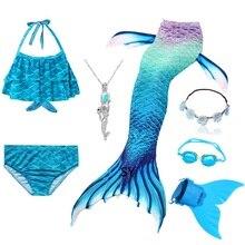 Heißer Mädchen Schwimmen Meerjungfrau Schwanz Cosplay Meerjungfrau Kostüm Badeanzug Mit oder Keine Monofin Fin Flipper Kinder Swimmable Kinder Bademode