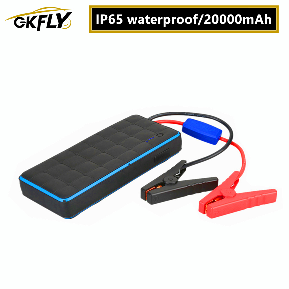 GKFLY IP65 Waterproof <font><b>1000A</b></font> 12V <font><b>Car</b></font> <font><b>Jump</b></font> <font><b>Starter</b></font> Portable Power Bank Petrol Diesel <font><b>Car</b></font> Battery Booster Starting Cables Device image