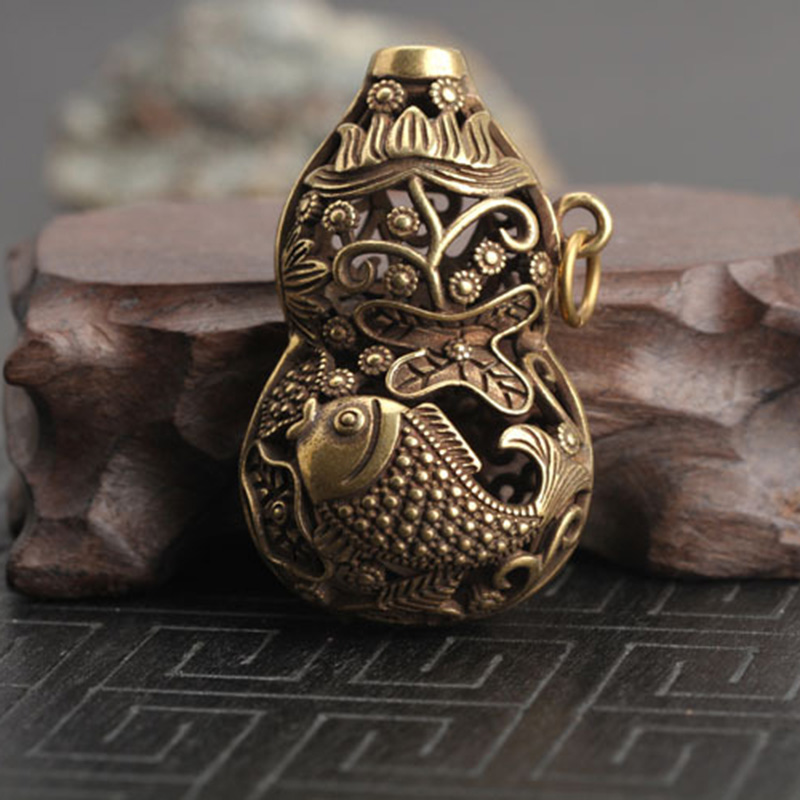 Chinese old collection handwork bronze Vajra statue Key buckle Pendant