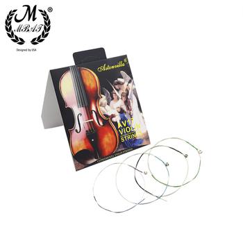 M MBAT AV17 struna do skrzypiec wysokiej jakości drut ze stali nierdzewnej naprawa i zestaw do konserwacji akcesoria do instrumentów muzycznych tanie i dobre opinie CN (pochodzenie) AV-17 Stainless Steel Wire String Nickel-plated Ball-end Silver Musical instrument accessories