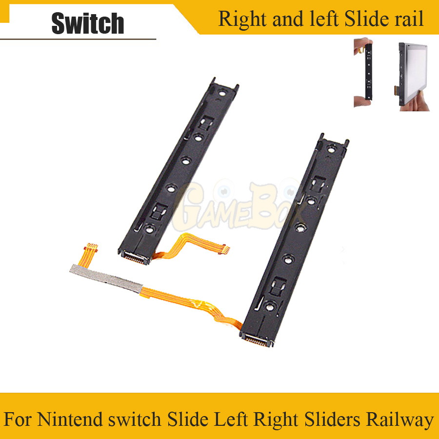 Original Right Left Slide Rail With Flex Cable Fix Part For Nintend Switch LR Slide Sliders Railway For Switch NS Rebuild Track