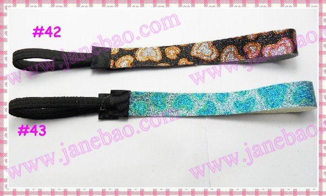 Микс 40 шт 3/4 ''повязки с блестками для Девочки повязка для волос для Софтбола сверкающие повязки на голову