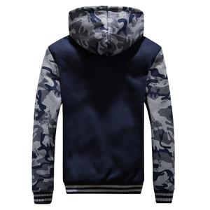 Image 2 - Мужские камуфляжные куртки с капюшоном, флисовые теплые толстые мужские повседневные пальто, верхняя одежда, зимние Брендовые мужские военные куртки с капюшоном, спортивный костюм