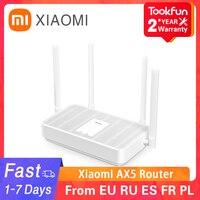 2021 nuovo Xiaomi Redmi AX5 Router Wireless 5G WiFi 6 ripetitore di rete a rete a doppia frequenza 4 antenne ad alto guadagno Extender di segnale