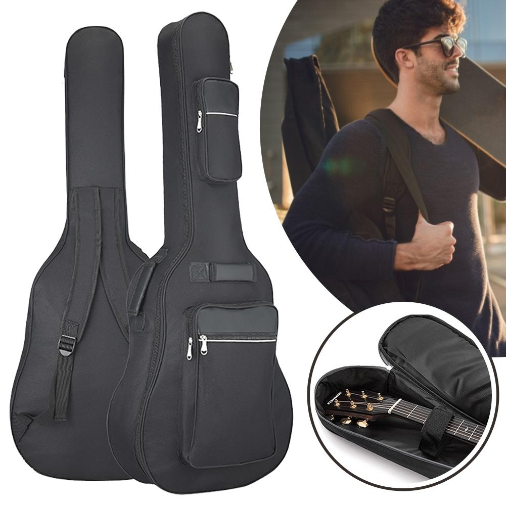 40/41 Inch Oxford Fabric Guitar Bag Soft Double Shoulder Straps Padded Acoustic Guitar Waterproof Backpack Instrument Bags Case