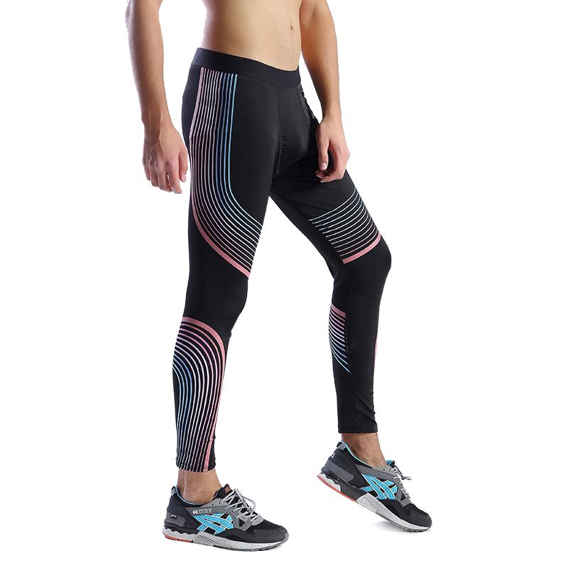 JS1212J-Workout Fitness Men Trousers Men Thermal Muscle Bodybuilding Wear Compression Elastic Slim Exercise Clothing