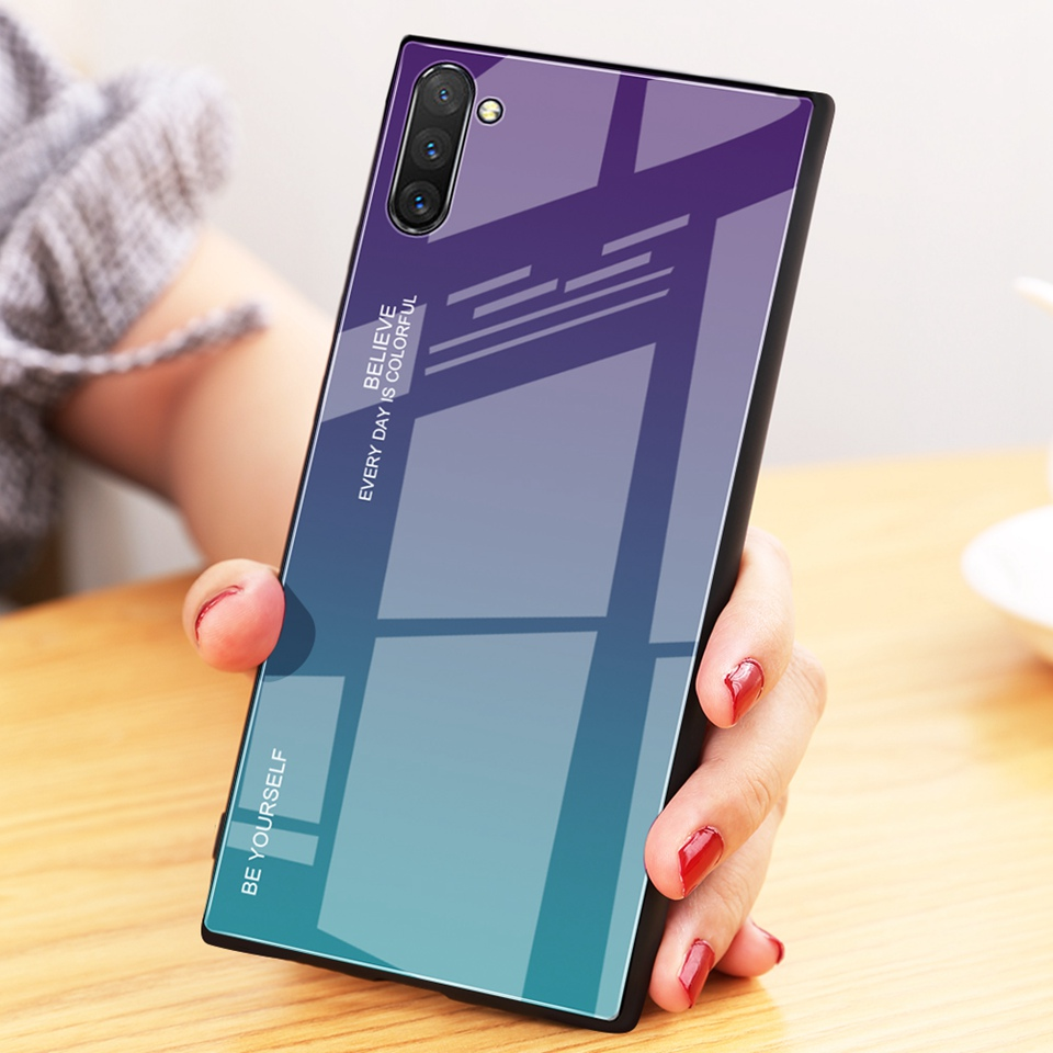 Luxury Glass Case For Samsung Galaxy Note 10 Pro 9 8 Note10 A50 A70 A50s A30s A30 A20 A10 J4 A7 2018 S8 S9 S10 Plus Phone Cover (8)