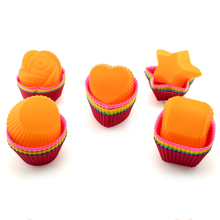 3 Pcs Silicone Cupcake Liners Cake Mold Muffin Cases Muti Round Shape Cup Cake Tools Bakeware Baking Pastry  Mold Various shapes 12 pcs silicone cake muffin chocolate cupcake liner baking cup cookie mold newest hot search